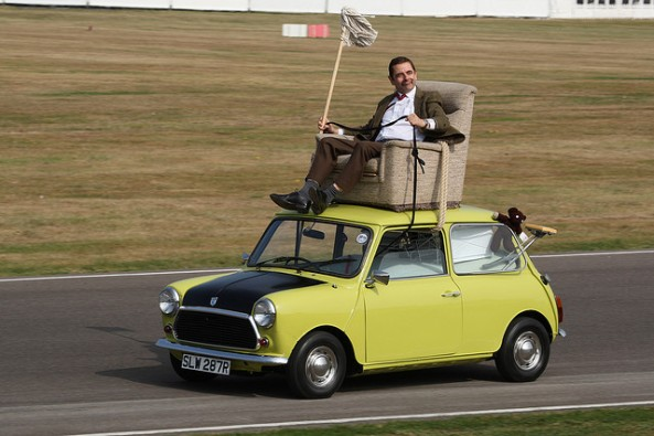 Mr. Bean with his on-screen mini