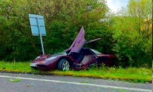 Mr. Bean's supercar after the crash