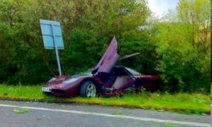 Mr. Bean's supercar after the crash