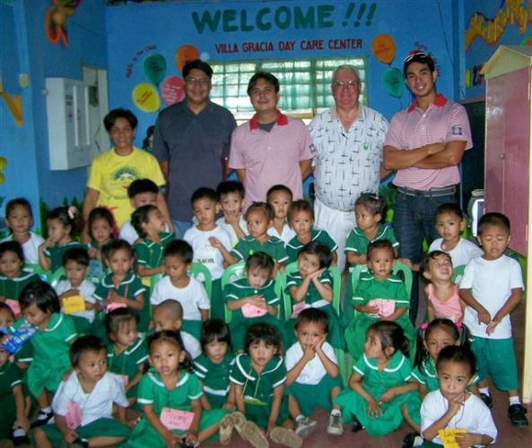 Rotary club party for indigent children