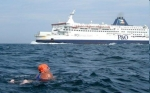 Jackie Cobell, who swum the English Channel  in July this year