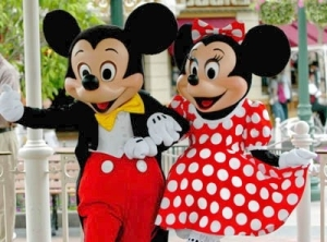 Mickey Mouse and girlfriend Minnie