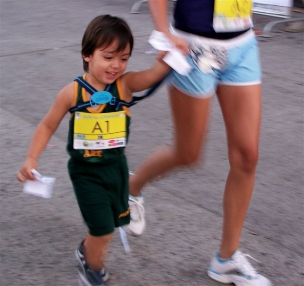 Robert Harland Jr., youngest competitor at two and a half years