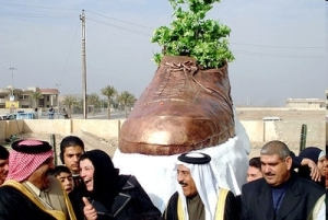 The 'Bush' shoe sculpture