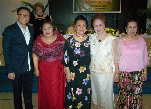New BCF board of directors with inducting officer Rep. Dr. Anthony Golez, Jr (l-r) President Suzette Lacson, Prima Pefianco, Gilda Puey, Marina Urbanozo