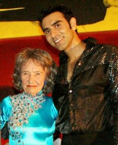 Tao Porchon-Lynch from India. At 93 she's one the world's oldest ballroom dancers