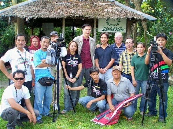 To mark the 25th anniversary of the Negros Forests and Ecological Foundation, an ABS-CBN crew visited the NFEFI center by the Provincial Lagoon on Wednesday to record segments for this Saturday's edition of its public affairs program Salandigan.