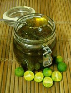 Calamansi marmalade with brandy