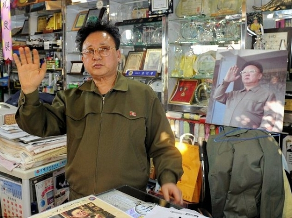 Kim Young-sik in his shop in Seoul