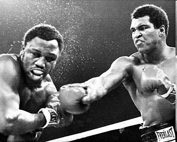 Thrilla in Manila. The 1975 Ali Frazier flight