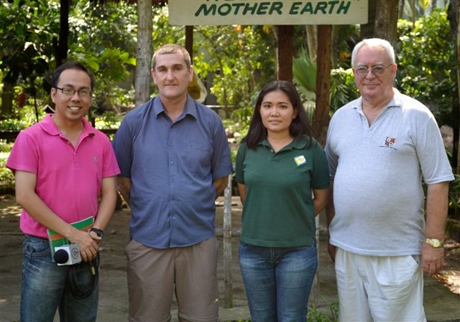 ABS-CBN's Marty Go, Bristol Zoo's Nigel Simpson, NFEFI's Curator Dr. Joanne Justo, NFEFI Trustee Robert Harland