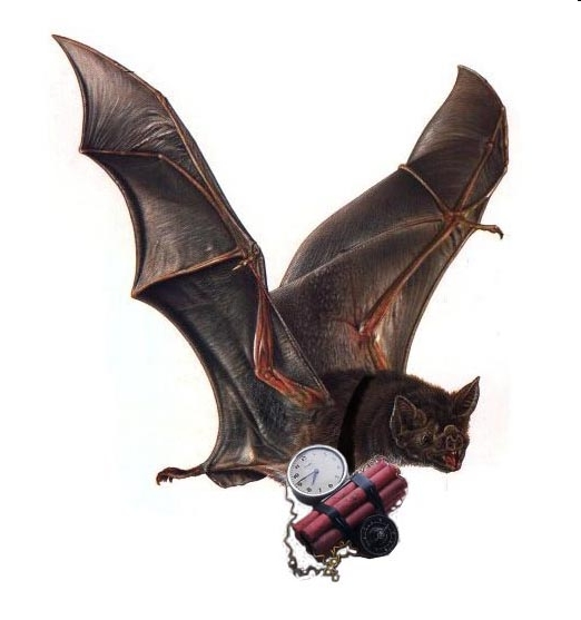 A bat bomber in action