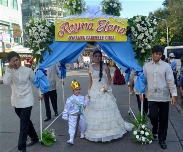 Reyna Elena, Johanna Gabrielle Chua with Prince Constantine, Robert Harland Jr