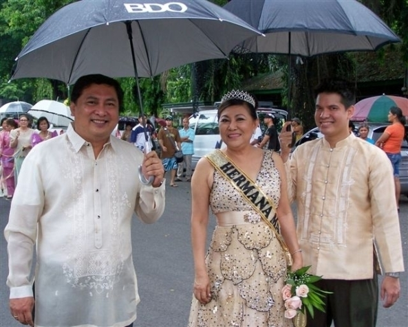 Vice Mayor Jude Thaddeus Sayson with the 2011 Herman Mayor Dr. Evangeline Johnson and Ced Torrecarion