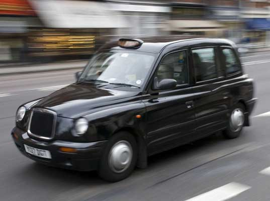 A London cab - professional drivers, but fares are sky high
