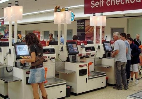 Self checkouts are becoming very popular in some countries