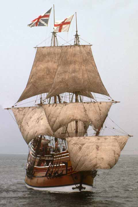 A replica of the famous Mayflower
