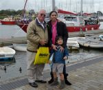 NDB contributor, Robert Harland, with partner Stessie Hecita and their son Robert Jr. visited Lymington village on the south coast of England on Tuesday. It is one of the country's major centers for yachting.