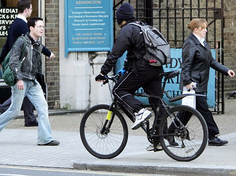 Cycling on the pavement poses a danger to pedestrians, especially to senior citizens.