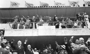 Adolf Hitler opens the 1936 Summer Games in Berlin
