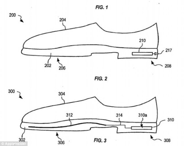 Smart shoes: Apple has filed a patent for a smart shoe that would alert the wearer when the footwear needs to be replaced.