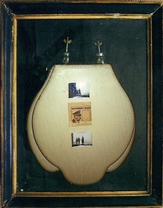 Adolf Hitler's toilet seat, 'liberated' from his mountaintop home