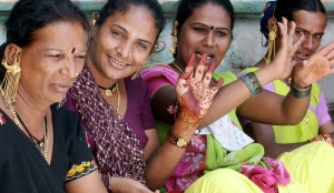 Indian Eunuchs at a festival in New Delhi