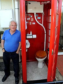 Briton John Long converted his old telephone box into a CR