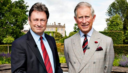 Prince Charles (r) with celebrity British gardener Alan Titchmarsh