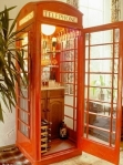 This old red telephone box has been made into a cocktail cabinet