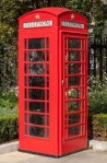 The iconic British red telephone box