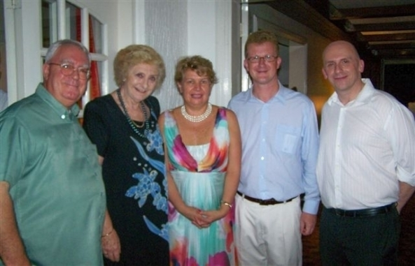 British Embassy wardens for Negros Occidental (l-r) Robert Harland and Hazel Stuart with former HM Consul Joanne Finnamore-Corkin, British ambassador to the Philippines Stephen Lillie and HM consul Brendan Gill