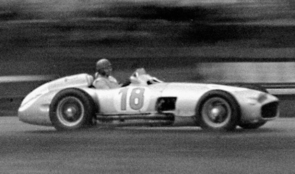 Fangio in his W196 at the 1954 German Grand Prix