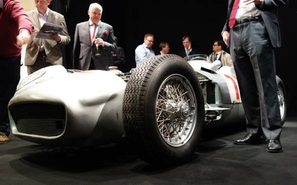 The W196 aroused a lot of interest at the auction house []   1954 Mercedes W196 sold for Php1.2 billion