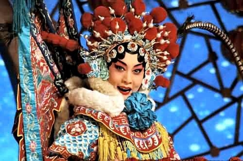 The famous heroine Mu Guiying in traditional Peking opera