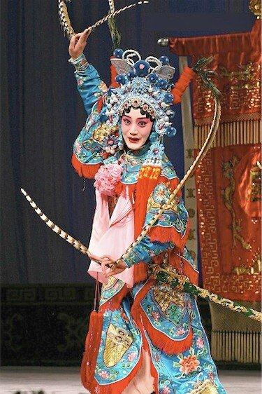 Males often sing female roles in Peking Opera
