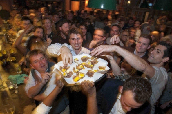 The Scotch Egg Challenge takes place in England each year